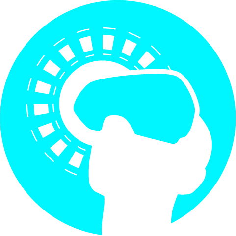 image of a head wearing a VR headset